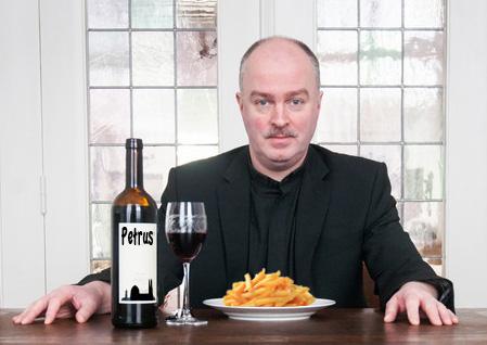 Petrus wijn met friet