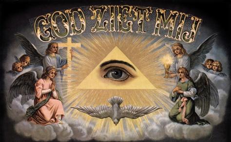 god ziet alles