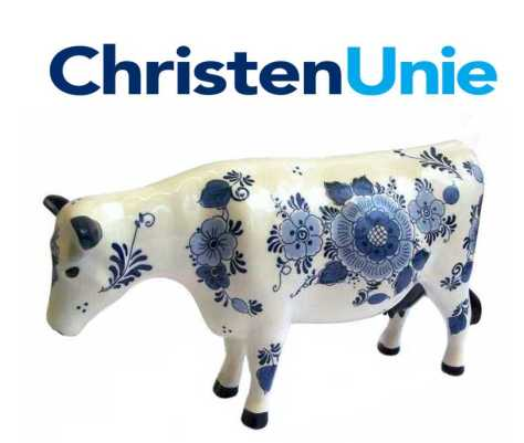 Delfts-blauw koe